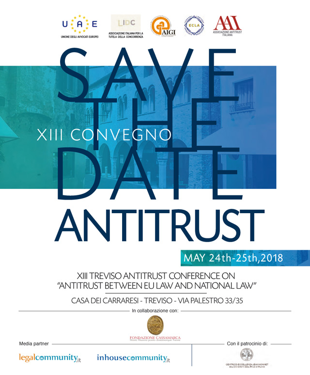 XIII Treviso Antitrust Conference - May 2018